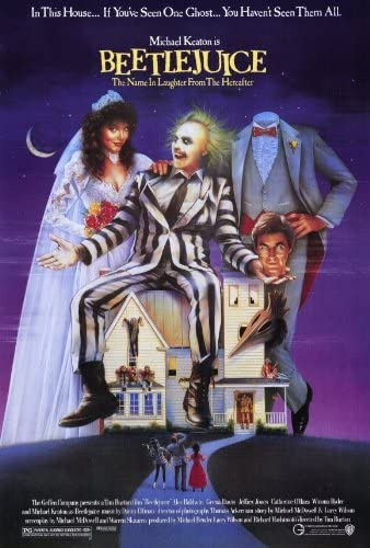 Amazon.com: (27x40) Beetlejuice - Michael Keaton Movie Poster by  postersdepeliculas: Beetlejuice Movie Poster Print: Posters & Prints