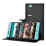 Nextbit Robin Case - IVSO® Nextbit Robin Case - High Quality Leather +TPU with Pockets for ID, Credit Cards-Will Only Fit Nextbit Robin Smartphone (Black)
