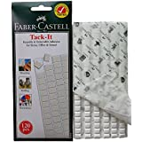 Faber-Castell Reusable & Removable Adhesive putty, Poster & Multipurpose White Tacky putty, Wall safe sticky tack - 120 pieces