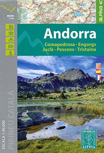 Andorra (Pyrenees) 1:40,000 Hiking Map ALPINA