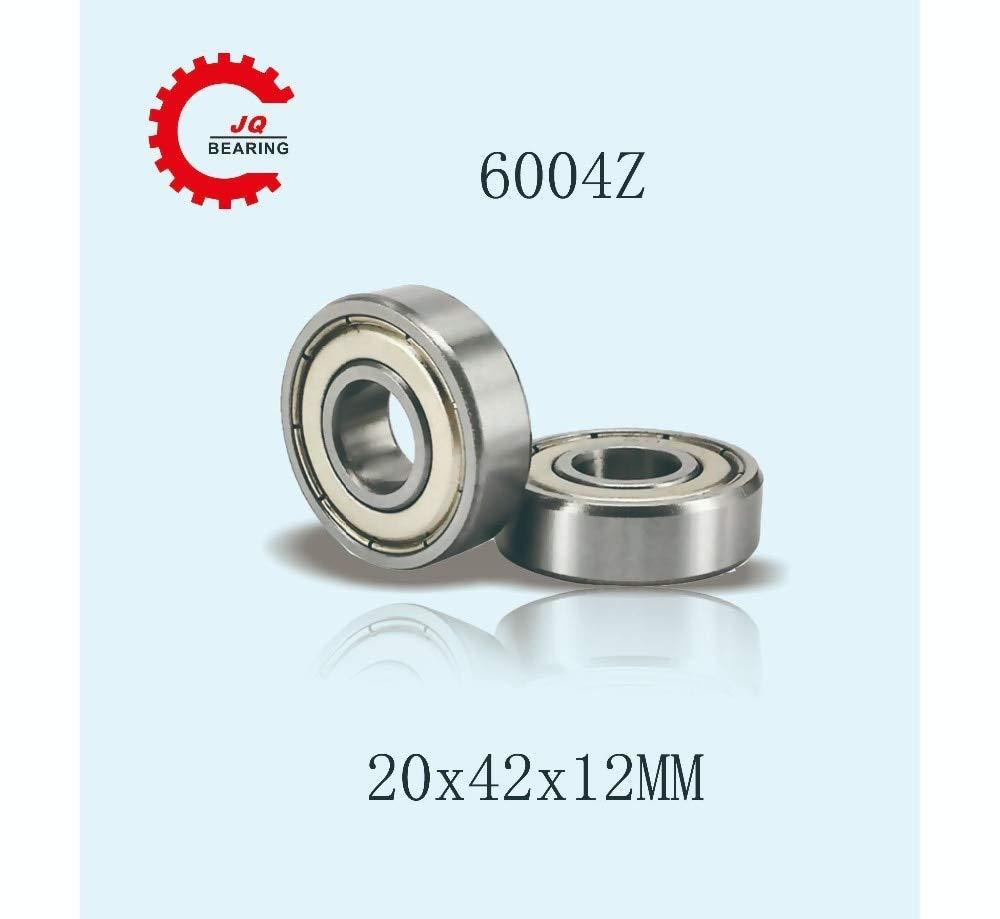Ochoos Ochoos 5 Pcs 6004Z 20x42x12mm Double Metal Shielded Deep Groove Ball Bearings
