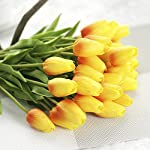 JOEJISN-30pcs-Artificial-Flowers-Real-Touch-Orange-Tulips-Holland-PU-Tulip-Bouquet-Latex-Plants-for-Party-Office-Home-Kitchen-Plants-Decoration-Orange