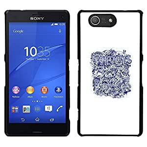 For Sony Xperia Z4v / Sony Xperia Z4 / E6508 , S-type® Bored Quote Art Tattoo - Arte & diseño plástico duro Fundas Cover Cubre Hard Case Cover