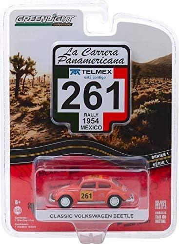 Greenlight 13240-A La Carrera Panamericana Series 1 - 261 1954 Classic Beetle 1/64 Scale Diecast