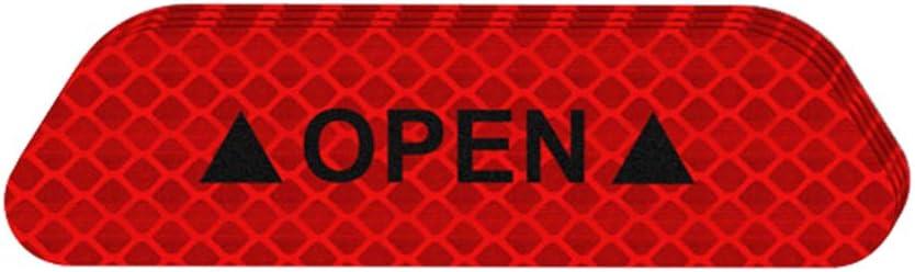 Set Targhe Adesivi di Avvertimento Aperta Adesivo Riflettente Mark Riflettente Nastro Auto Accessori Esterni Open-Segnale di Sicurezza Striscia Riflettente Royalr 4pcs
