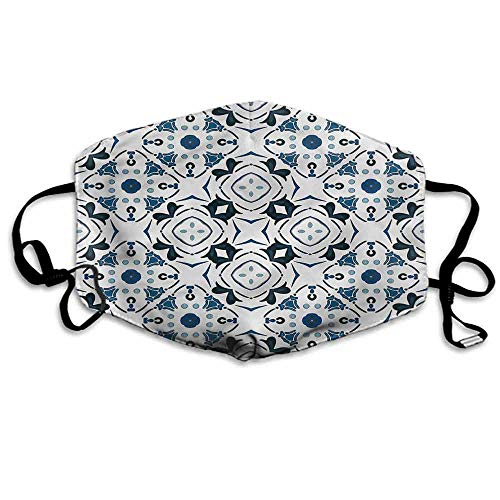 Abstract Fashion Mouth Mask Victorian Petals for Cycling