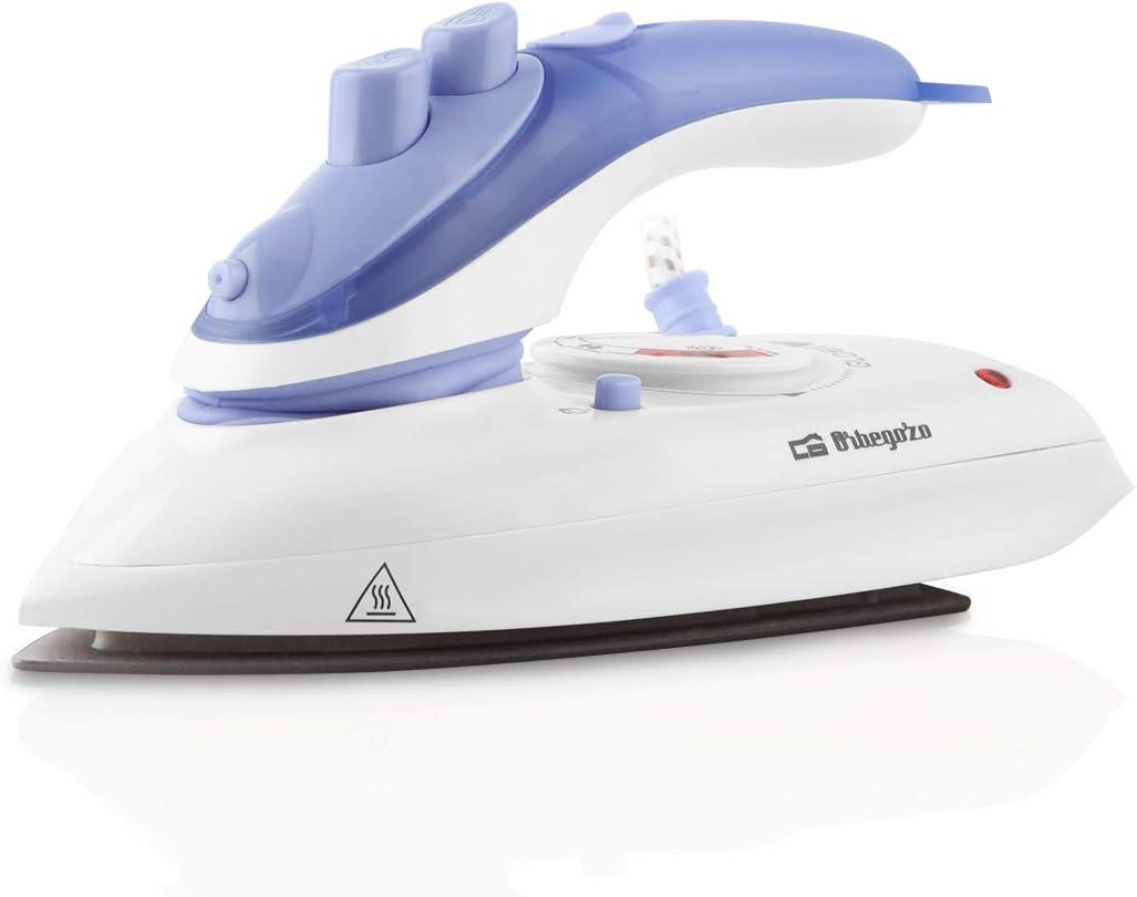Orbegozo SV 1010 - Plancha de vapor, suela de teflón, apagado automático, sistema antigoteo, dispositivo pulverizador, regulador de temperatura, bolsa de viaje, 1000 W: Amazon.es: Hogar