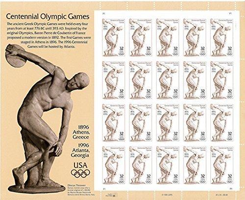 USPS Centennial Olympic Games Atlanta 1996 Sheet of Twenty 32 Cent Postage Stamps Scott 3087