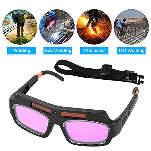 Ejoyous 1 Pair Updated LCD Solar Power Auto Darkening Welding Goggle with String, Anti-flog Anti-glare Eyes Safety Protective Welder Glasses Mask Helmet with Adjustable Shade, Eyes Goggles Mask