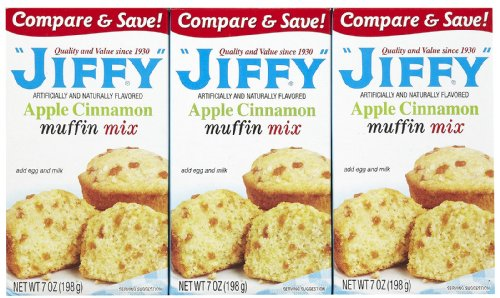 Jiffy Apple Cinnamon Muffin Mix, 7 oz, 3 -