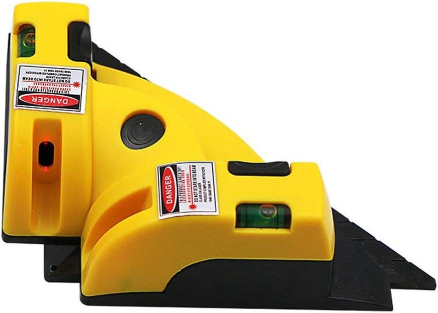 Jaune Niveau de laser /à 90 degr/és Niveau /à angle droit Outil de niveau pr/écis Outil de mesure au laser Niveau Niveau /à bulle laser