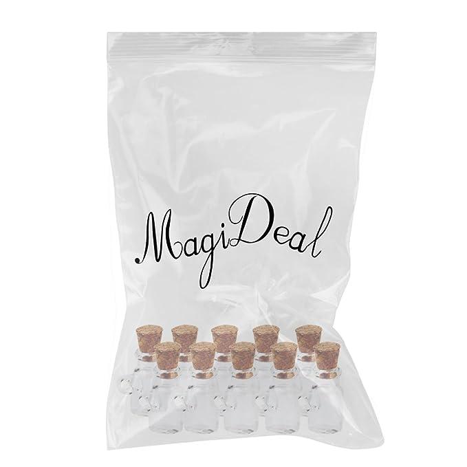 Las Mini Tarros De Botellas De Vidrio Viales Deseen Colgante Botella Con Tapón De Corcho 10pcs: Amazon.es: Hogar