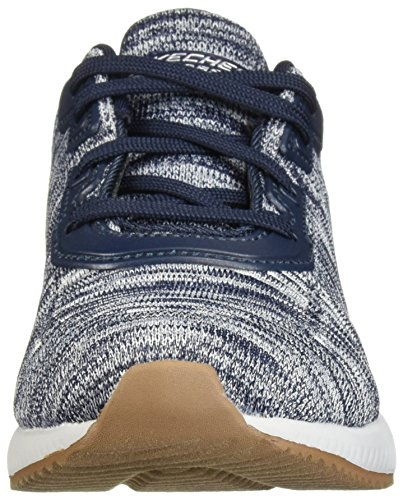 Navy White Bobs Lace Shoe Memory White Foam up Navy and Women's Skechers Sport 0UAPqP