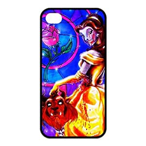 Fashion Beauty and the Beast Personalized iPhone 4 4S Rubber Silicone Case Cover