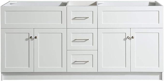 2 Soft Closing Doors Ariel 54 Inch White Bathroom Vanity Base Toe Kick 9 Full Extension Dovetail Drawer Tools Home Improvement Kitchen Bath Fixtures Fcteutonia05 De