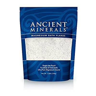 Ancient Minerals Magnesium Bath Flakes Single Use Pouch