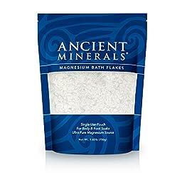 Ancient Minerals Magnesium Bath Flakes - Single Use - 1.65 lbs