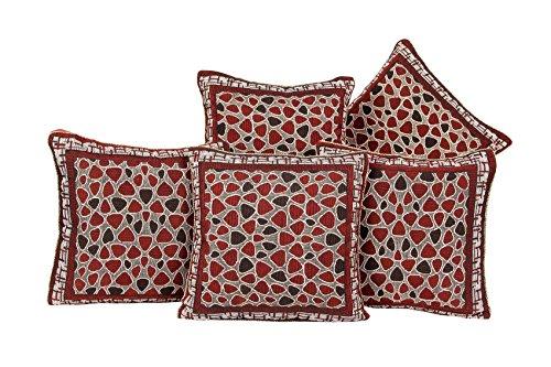 "Zesture BringHome jacquard weaved cushion covers(17″x 17"", mehroon )"
