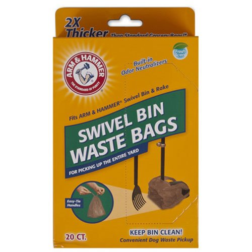 Arm & Hammer 71035 Swivel Bin Waste Bags, Penny, 20-Pack