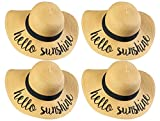 H-2017-BUNDLE-HSx4 Embroidered Sun Hat 4 Pack - Hello Sunshine
