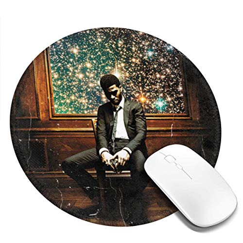 LiaoyumeiAPP Kid Cudi Man On The Moon 1-4 Pack Round Mouse Pads Circular Mouse Pad Mat, Non-Slip Rubber Base Mousepad (Kid Cudi Man On The Moon Iii)
