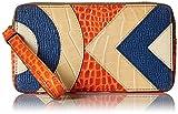 Orla Kiely Croc Applique Leather Large Zip Pouch Wallet, Orange, One Size