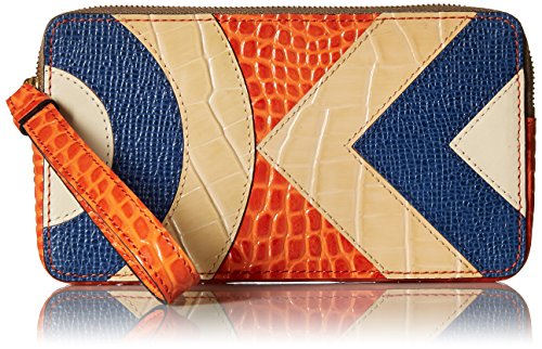 Orla Kiely Croc Applique Leather Large Zip Pouch Wallet, Orange, One Size by Orla Kiely