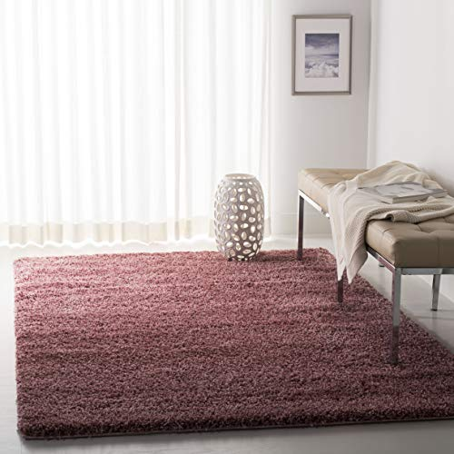 (Safavieh California Premium Shag Collection SG151-3737 Rose Area Rug (8' x)