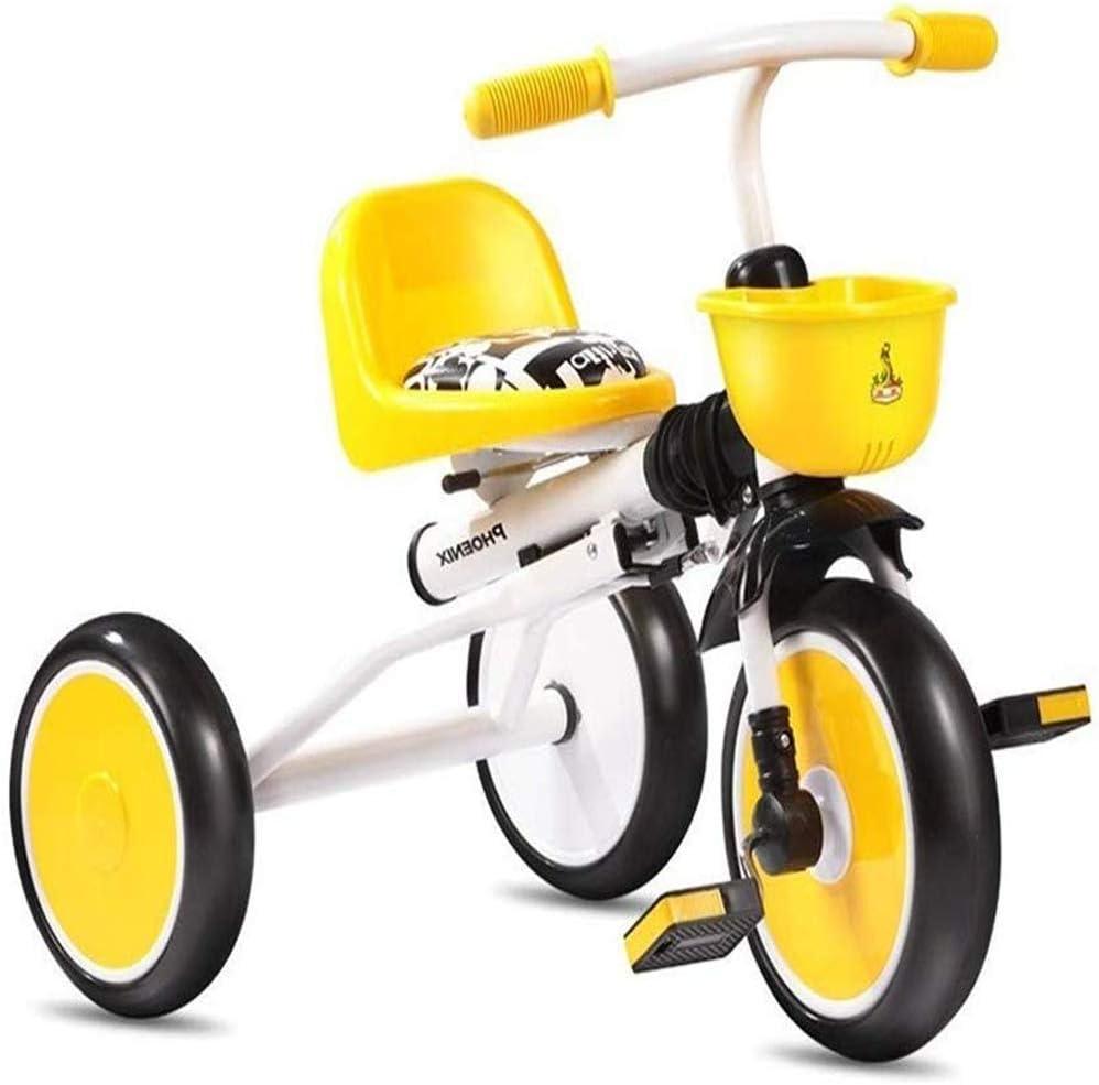 AJH Triciclo niños niños Cochecito de Bicicletas Bicicletas Kid 1/2/3/4 años Bicicleta Plegable Triciclo Triciclo niños Caminando Walk Trikes