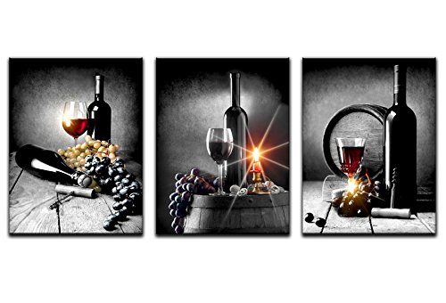 - Wall Art Wine With Grape Wall Art For Kitchen Painting Pictures Print On Canvas For Home Modern Decoration Canvas Art Home Wall Decor