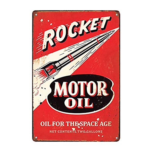 Mega sign the best amazon price in savemoney mega deal rocket motor oil gas oil garage auto shop rustic metal decor 12 malvernweather Images