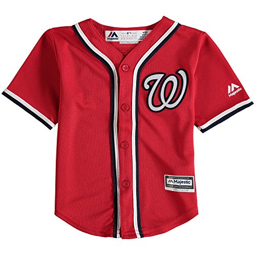 (Outerstuff Bryce Harper Washington Nationals Infant Red Alternate Cool Base Replica Jersey 24M)