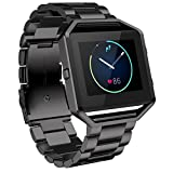 Watch Band, ABC Luxury Stailess Steel Bracelet Strap Watch Band for Fitbit Blaze Smart Watch (Black)