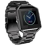 Watch Band, ABC Luxury Stailess Steel Bracelet Strap Watch Band for Fitbit Blaze Smart Watch (Black)