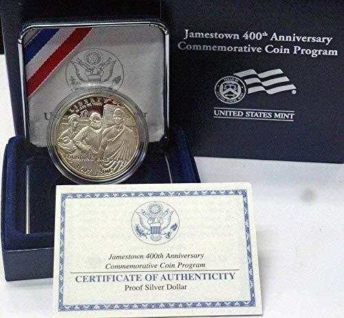 2007 P Jamestown 400th Anniversary Commemorative Silver Dollar Proof US Mint