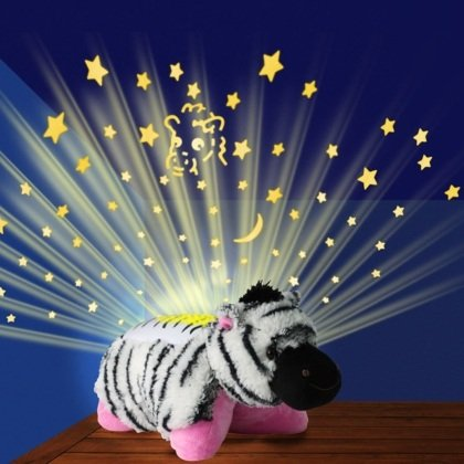Zebra stars bedroom projector Dream lites Children Kids Cuddle Cushion Animal Pillow PET Night Light Lamp Toy