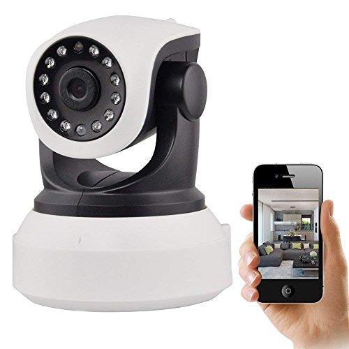 Wireless Camera, Wireless Security Camera Pan/Tilt and 2-Way Audio Internet Surveillance Camera, IP Security System Baby/Elder/Pet/Nanny (Tilt Internet Camera Server)