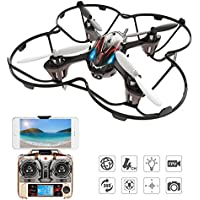 Holy Stone F180W Mini Drone with 720P HD Camera RC FPV Quadcopter Gravity Sensor Mode 3D Flip Headless Mode Including Bonus Battery