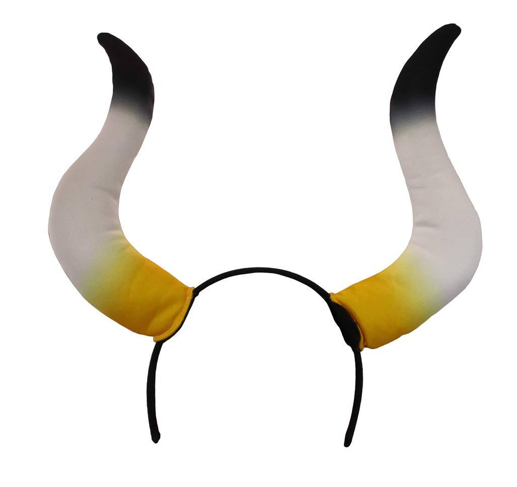 elope Bull Costume Horns Black Elastic Headband for Adults