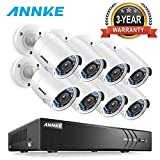 ANNKE 8-Channel 2MP/3MP 5-in-1 Security DVR and (8) 1920TVL 2.0 Megapixel CCTV Cameras with Weather Proof and Motion Detection-NO HDD