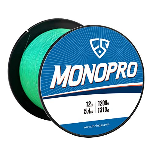 Green Series Water Saltwater (FISHINGSIR 25 LB Fishing Line Monofilament for Bass Trout Carp Salmon Catfish Pike, Saltwater Freshwater,Green)