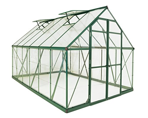 Palram Balance Hobby Greenhouse, 8′ x 12′, Green