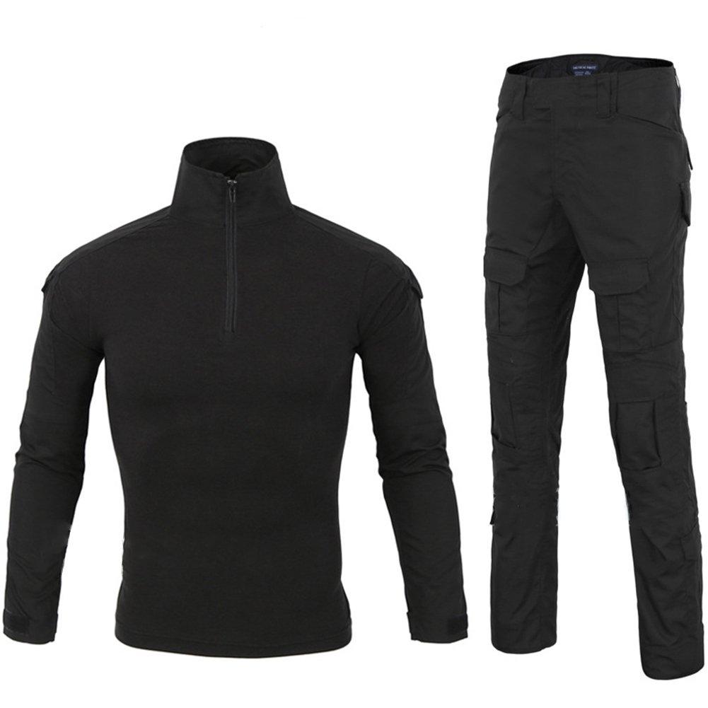 Lanbaosi Tactical Combat Waterproof Shirt Pants Hiking Fast Dry Set Military Uniform