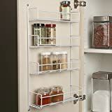 """Real Solutions 18"""" White Door Mount Spice tire wall mount Rack"""