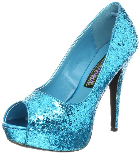 Funtasma Women's Twinkle 18G TE Peep-Toe Pump - Turquoise...