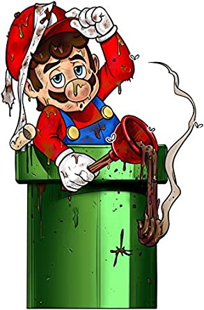 Okiwoki Funny MarioPink Bodysuits Mario Mario Parody