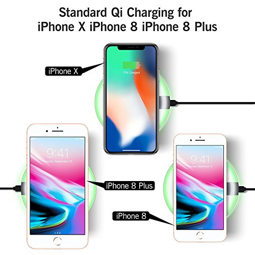 iphone x 8 plus wireless charger seneo fast wireless. Black Bedroom Furniture Sets. Home Design Ideas