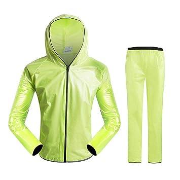 AOLVO Traje Impermeable de Lluvia para Mujer/Hombre Abrigo ...