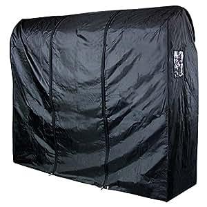 Hangerworld ST-6FT-NYLON-RAILCOVER-BLACK_1 - Funda Impermeable para Perchero Burro, Negro 183 cm