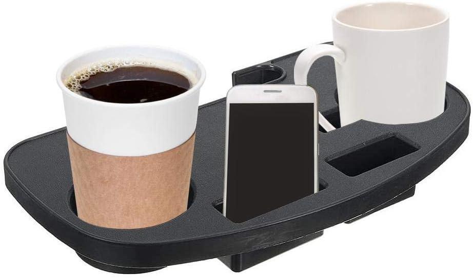 Odoukey Portable Supporto di gravit/à Zero Tazza Sedia di Svago Clip Vassoio Laterale Nero Campeggio lattine per Bevande Titolare